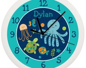 Under the Sea Animals Personalized Nursery Wall Clock