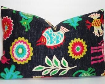 Waverly Mexicali Desert Flower Pillow Cover Decorative Pillow Southwestern Lumbar Throw Pillow 12x18