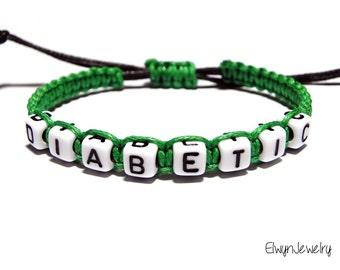 Diabetic Bracelet, Diabetes Bracelet, Medical Bracelet, Medical Alert Bracelet, Allergy Bracelet, Medical Jewelry, Child Bracelet