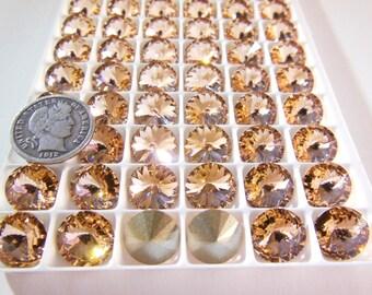 Swarovski 1122 Light Peach 47ss Crystal Rivoli Stones Foiled