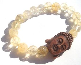 citrine buddha mala bracelet