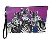 Zebras Large Wristlet by Salvador Kitti  - From My Original Painting, Family