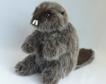Beaver Hand Puppet, Stuffed Animal
