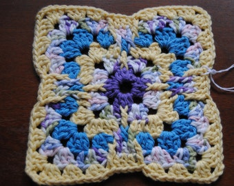 Blue and Yellow Country Dish Cloth