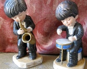 Moppets 1977  Boys with Instruments Figurines Gorham Japan