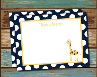 Personalized Giraffe Stationery