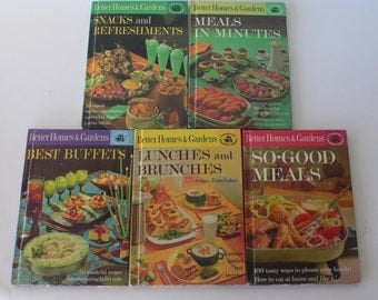 vintage cookbooks, Better Homes and Gardens Creative Cooking Library, 5 volumes 1963, from Diz Has Neat Stuff
