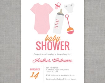 Baby Essentials Baby Shower Invitation