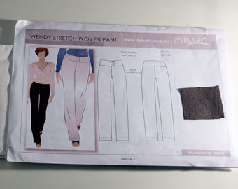 Style Arc Wendy Stretch Woven Pant size 12