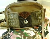 Taupe and Brown Leather shoulder bag