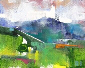 "Late spring 11, original watercolor painting 7"" x 5"""