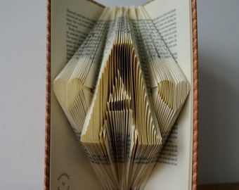 Initial Folded Book Art-18th birthday gift-Personalized gift-for book lover-for teacher/student-made to order