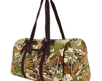 Personalized Quilted Camo Duffle Bag, Monogrammed Camo Duffle Bag, Real Tree Duffel Bag, Embroidery Included