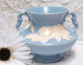 Weller Pottery Vase Blue Cameo