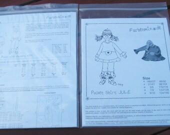 2 Farbenmix Sewing Patterns - Kim Ruffle Pants & Jule Hoodie Shirt NEW