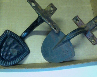 Antique Pair Iron Steps for horse drawn carriage Matched Set