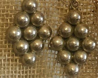 Vintage Mexico Beaded Sterling Earrings