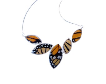 Real Butterfly Wing Sterling Silver Necklace - Anniversary, Gift, Special Occasion