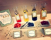 Mimosa Bar - Bridal Shower Tags - Wedding Favor Tags - Wedding Glitter Tags - Gold Glitter Wedding Favor Tags