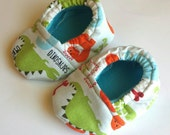 Dinosaurs Baby Booties size 0-3 months