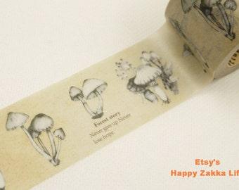 Fungus - Black - Japanese Washi Masking Tape - 30mm Wide - 11 Yards