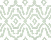 Artichoke Green Chevelle Geometric Curtains. Pair of Two Window Drapes. Green Modern Curtains. Drapery.