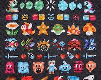 NES Band Sampler Cross Stitch PATTERN