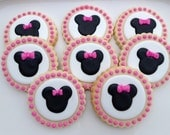 Minnie Mickey Silhouette Cookies