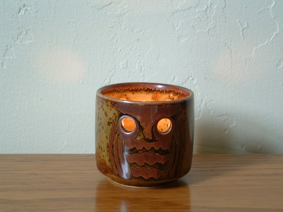 Vintage Ceramic Owl Tea Light Holder Votive By Thefrabjousday