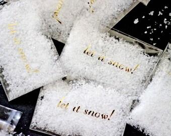 Let it Snow Confetti Favor Toss