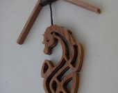Wooden Christmas Decoration, Ornament - Sea Horse - mobile. #110