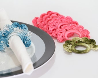 Crochet Napkin Rings  PDF Pattern