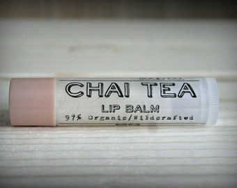 Chai Tea, Organic Vegan chai flavored lip balm
