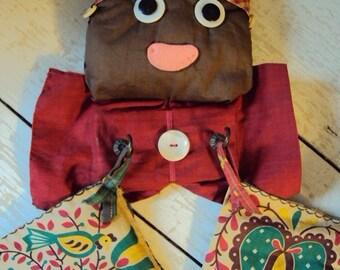 Vtg. Mammy Hot Pad Set Black Americana Folk Art