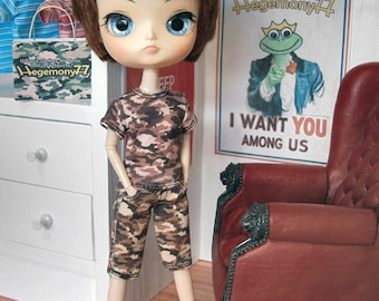 Camouflage doll outfit set for: Blythe, Dal, Monster High...