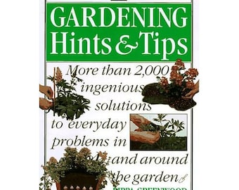 Book Gardening Hints and Tips Home & Garden, Illustrated, Paperback, Vintage 1996