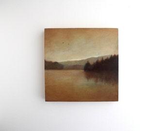 Adirondack Lake Oil Painting - 6 x 6