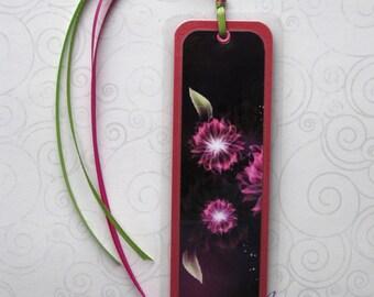 Handmade Laminated Durable Bookmark Pink Flowers