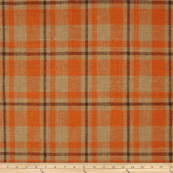 Two 96 X 50 Custom Curtain Panels Plaid Orange
