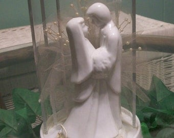Vintage 60's Bride And Groom Cake Topper