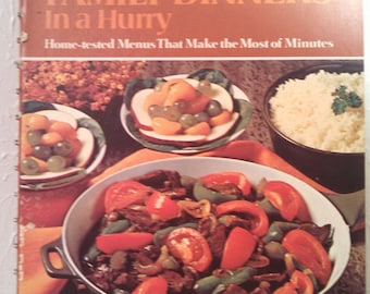 Vintage 1st edition  Betty Crockers Family Dinners in a hurry.