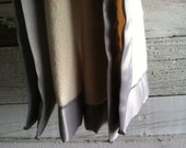 Organic Cotton Fleece Baby Blanket with Grey Satin Trim, Baby Gifts, Satin Lovey, Made to Order