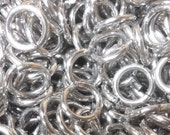 5000 Jump Rings 1/4 inch ID 14g AWG Bright Aluminum Chainmail