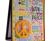 Peace Sign Birthday Card, Happy Birthday, Handmade Greeting Card, Peace and Love, Colorful Card, Teen Girl Birthday, Gifts For Her, Homemade