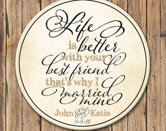 Personalized Wood Established Sign, Family Established Sign, Couples Name Sign, Life Is Better With Your Best Friend