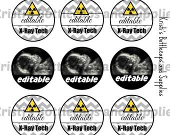 Xray and Ultrasound Tech Bottlecap Digital Download