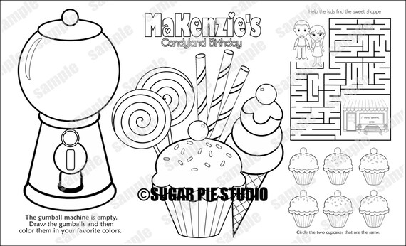 custom candyland coloring pages - photo#14