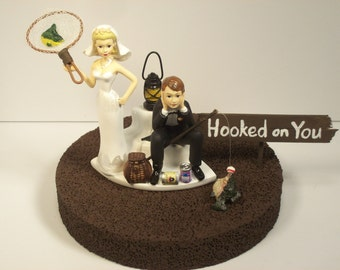 No Hunting Deer Bride And Groom Wedding Cake Topper Funny