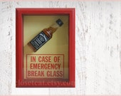 Jack Daniels - In Case of Emergency - whiskey bottle, gift for boyfriend, bachelor party, drinking, alcohol gift, rusteam, college drinking