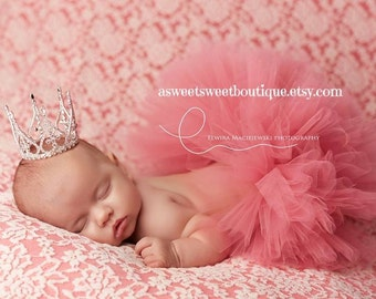 Sweet Prima Ballerina Tutu And Crown Set Stunning Unique Newborn Photo Prop And Princess Halloween Costume Available In Many Colors